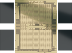 AMD Instinct MI100 - Die Shot. (Image Source: AMD)