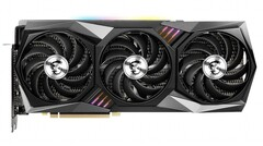 The MSI GeForce RTX 3080 GAMING X TRIO 10G card can boost to 1,815 MHz. (Image source: MSI)