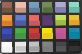 ColorChecker: The reference color is displayed in the lower half of each patch.