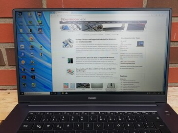 Huawei MateBook D 15 - Outdoor use