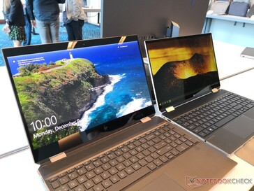 2019 model (left) vs. 2020 model (right). Note the significantly smaller bezels on the latter