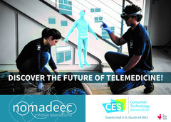 The Nomadeec telemedicine platform will be showcased during CES 2018. (Source: VRFocus)