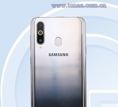 The Samsung Galaxy A8s rear panel, courtesy of TENAA. (Source: TENAA)