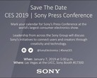 Sony has invited the media to its CES 2019 Press Conference. (Source: Own)