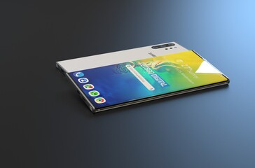 Samsung Galaxy Note 10 5G render. (Source: LetsGoDigital)