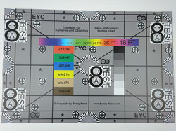 A photo of the test chart