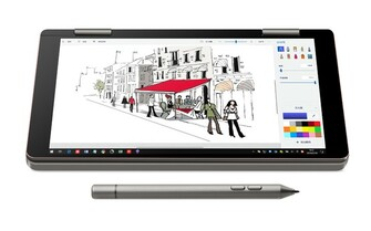 Tablet mode with included stylus (Source: One-Notebook)