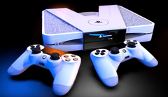 The PS5 concept console comes in white as well as black. (Image source YouTube)