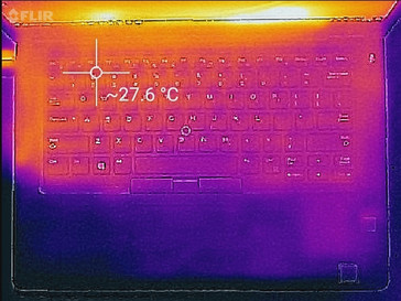 Thermal profile, idle, top