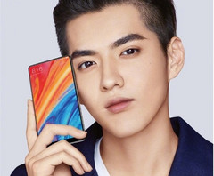 The selfie cam appears to be placed in the lower right of the Xiaomi Mi MIX 2S. (Source: Xiaomi)