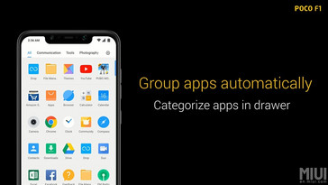 Apps are grouped according to their category for easy identification. (Source: Xiaomi)