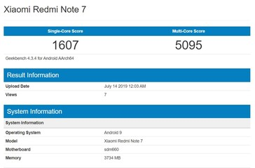 The Snapdragon 660 on Geekbench.