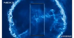 The latest Vivo NEX 3 teaser shows a device without any front-facing side bezels. (Source: Vivo)