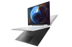 Dell's XPS 13 7390 2-in-1 offers a display with 500-nit brightness. (Image source: Dell)