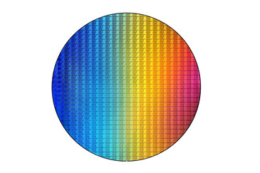 The 8th generation Kaby Lake-R wafer (Source: Intel)