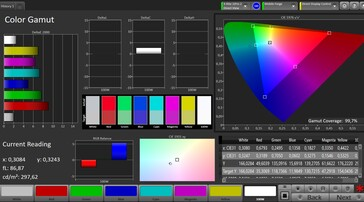 CalMAN: sRGB colour space - Vivid