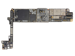 Apple iPhone 8 logic board. (Source: iFixit)
