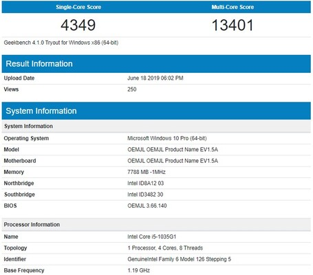 Single-core and Multi-core scores reported in Geekbench 4.0 (Source: Geekbench)