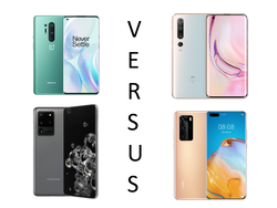 In review: Samsung Galaxy S20 Ultra vs Huawei P40 Pro vs OnePlus 8 Pro vs Xiaomi Mi 10 Pro. Review units provided by Samsung Germany, Huawei Germany, and Trading Shenzhen.
