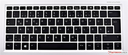 The keyboard of the HP EliteBook x360 1030 G2