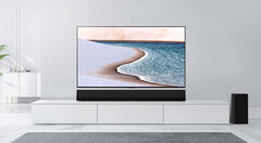 The GX soundbar with a 65-inch Gallery TV. (Source: LG)