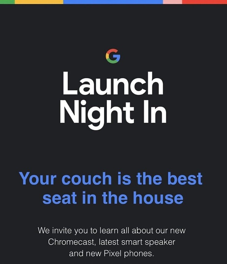 The Google launch invite. (Source: Twitter)