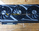 The ASUS ROG Strix GeForce RTX 3090 features a triple-fan design (Image source: Videocardz)