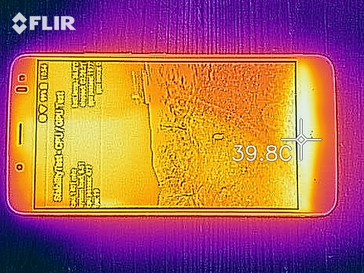 Thermal imaging of the front of the device under load