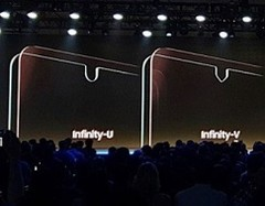 The notched Infinity Displays exhibited by Samsung during the SDC. (Source: Samsung)