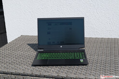 The HP Gaming 16 in direct sunlight