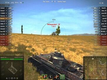 World of Tanks 0.7.0 - Pz V-VI Alpha aiming at dead enemy
