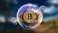 The Bitcoin bubble may not have completely burst, but it's heading in that direction. (Source: NewsBTC)