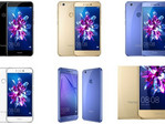 Huawei Honor 8 Lite Android smartphone color options