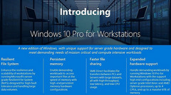 Windows 10 Pro for Workstations highlights (Source: Microsoft)