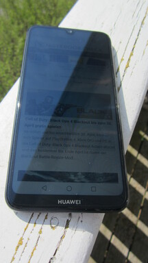 Using the Huawei Y7 2019 outdoors