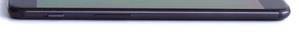 left: sliding switch for Do Not Disturb mode, volume rocker
