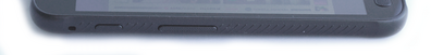 Left: XCover button, volume control