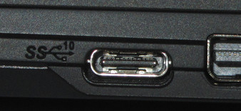 The symbol indicates a USB 3.1 Gen 2 port.