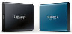 Samsung Portable SSD T5 Deep Black and Alluring Blue color options