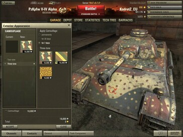 World of Tanks 0.7.0 - Pz V-VI Alpha camo selection