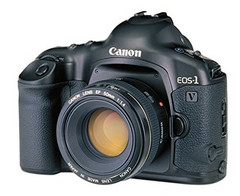 The Canon EOS-1v, released in 2000. (Image source: Canon)