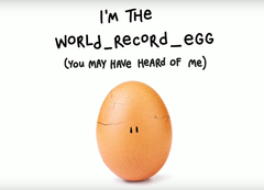 The world_record_egg made an appearance to promote Hulu and Mental Health America. (Source: YouTube)