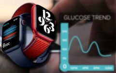 A future Apple Watch device could utilize Rockley's blood sugar monitor and numerous other health-related trackers. (Image source: Apple (Series 6)/Rockley - edited)