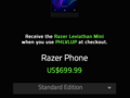 Razer is offering a free Bluetooth speaker with its phone for a limited time. (Source: Razer)