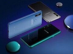 The Galaxy A9 Pro 2019 comes in three different colors. (Source: GSMArena)