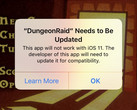 Legacy 32-bit apps will fail to launch on iOS 11. (Source: MacRumors)