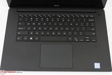 Slightly wider keyboard and taller touchpad than on the XPS 13