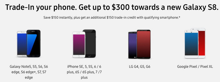 Samsung offers a trade-in program for eligible handsets. (Source: Android Central)