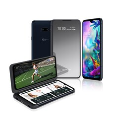 The LG G8X ThinQ comes with a new symmetrical  secondary display accessory. (Source: LG)