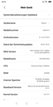 Xiaomi Redmi 6 software